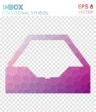 Inbox alt polygonal symbol. Appealing mosaic style symbol. popular low poly style. Modern design. inbox alt icon for infographics or presentation vector illustration