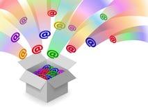 Inbox d'email Images libres de droits