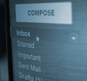 Inbox folder Stock Photography