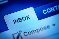 Inbox icon. Email inbox and compose icon royalty free stock images