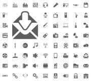 Inbox icon. Media, Music and Communication vector illustration icon set. Set of universal icons. Set of 64 icons.  royalty free illustration