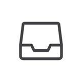Inbox-Linie einfache Ikone Stockbild