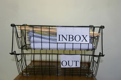 Inbox/Outbox Stock Afbeeldingen