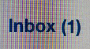 Inbox sign. On the screen royalty free stock photos