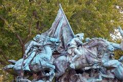 Inbördeskrig minnes- Capitol Hill W för staty för CalvaryladdningsUS anslags- Fotografering för Bildbyråer