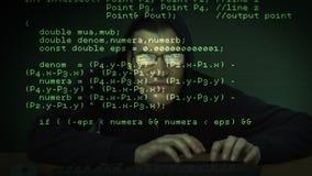 Inbreker het binnendringen in een beveiligd computersysteem in computer stock video