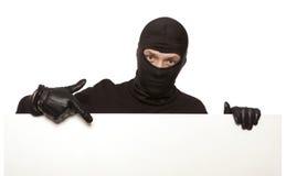 Inbrottstjuv ninja som isoleras Arkivbilder