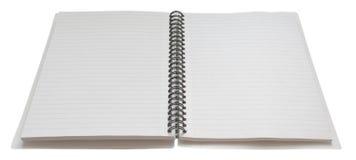 inbunden öppen spiral för anteckningsbok Arkivbild