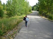 inbunden väg för land homeward Royaltyfri Fotografi