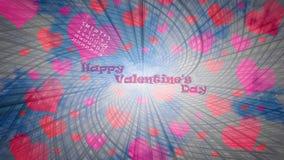 inbunden vektor för valentin för daghjärtaillustration s två Royaltyfri Fotografi