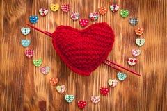 inbunden vektor för valentin för daghjärtaillustration s två Arkivfoton