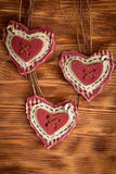 inbunden vektor för valentin för daghjärtaillustration s två Royaltyfri Foto