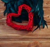 inbunden vektor för valentin för daghjärtaillustration s två Arkivfoto