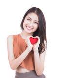 inbunden vektor för valentin för daghjärtaillustration s två härlig le kvinna Royaltyfria Bilder
