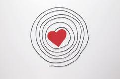inbunden vektor för valentin för daghjärtaillustration s två Fotografering för Bildbyråer