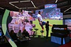 Inbyggd utställning för system Europa (ISE), Amsterdam, Royaltyfri Fotografi