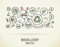 Inbyggda symboler för ekologihandattraktion