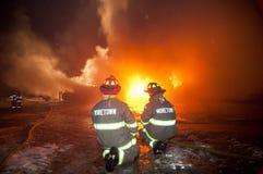 Incêndio 01-07-2012 da construção de DuBois Fotografia de Stock Royalty Free