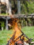 Incêndio ardente Imagens de Stock