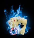 Incêndio azul Fotografia de Stock