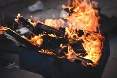 Incêndio caldeireiro Foto de Stock