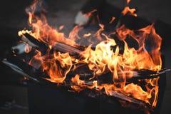 Incêndio caldeireiro Fotos de Stock