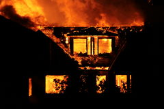 Incêndio da casa Imagens de Stock Royalty Free