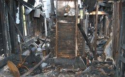 Incêndio da casa. fotografia de stock