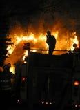 Incêndio da casa foto de stock