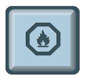 Incêndio da tecla do Web Imagem de Stock Royalty Free