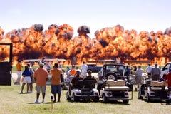 Incêndio de Airshow imagem de stock royalty free