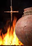 Incêndio de Easter da fé fotos de stock