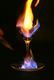 Incêndio dentro do vidro Foto de Stock