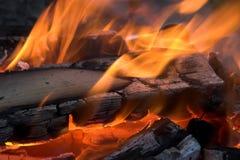 Incêndio do acampamento Foto de Stock