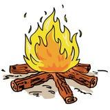 Incêndio do acampamento ilustração stock