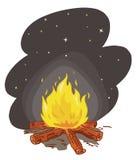 Incêndio do acampamento ilustração do vetor