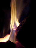 Incêndio do acampamento na noite Fotos de Stock Royalty Free