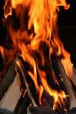 Incêndio do BBQ Imagem de Stock