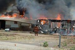Incêndio do edifício Fotos de Stock