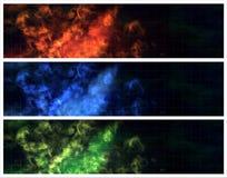 Incêndio do fundo da coleção Imagens de Stock