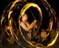 Incêndio do whit da dança Imagens de Stock
