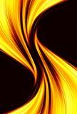 Incêndio dourado ilustração royalty free