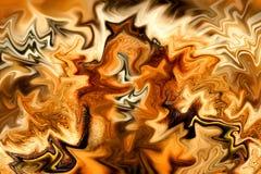 Incêndio dourado ilustração stock