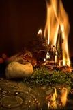 Incêndio e água Imagem de Stock