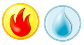 Incêndio e água Foto de Stock