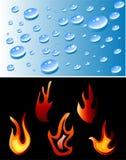 Incêndio e água Ilustração Royalty Free