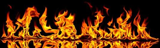 Incêndio e flamas. Fotografia de Stock