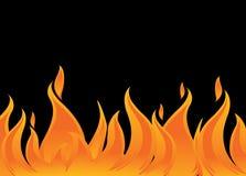Incêndio e flamas Fotografia de Stock Royalty Free
