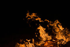 Incêndio e flamas Fotos de Stock Royalty Free