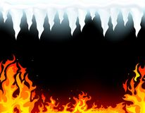 Incêndio e gelo Fotos de Stock